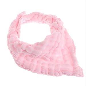 Underleaf Pink bib and dribble bib toddler scarf bib cotton triangle bib saliva towel baby products for newborns