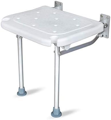 Dusch Badestühle Duschhocker Duschbank Badestuhl Badesitz Duschstühle Und Bänke Faltbare Schuhbank Hilfsmittel für Bad (Color : Weiß, Size : 40 * 32 * 42cm)