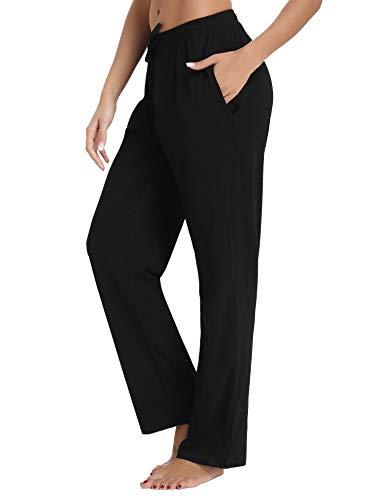 Aibrou Pyjama Pantalon Bas Nuit Vêtement Coton De Confortable Fuselé Noir Femme rqgrEwCf
