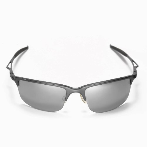 New Walleva Polarized Ice Titanium + Black Lenses For Oakley Half Wire 2.0