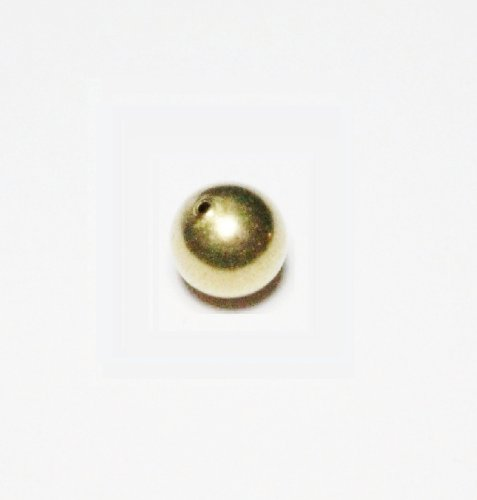 (10 Mm Solid Brass Seamless Hollow Round Beads Hole 1.5 Mm Pkg. Of 20)