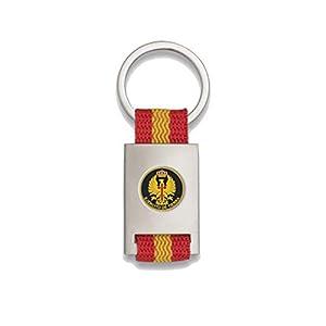 Tiendas LGP Albainox- Llavero Bandera DE ESPAÑA y Emblema Ejercito de Tierra, Plateado 6