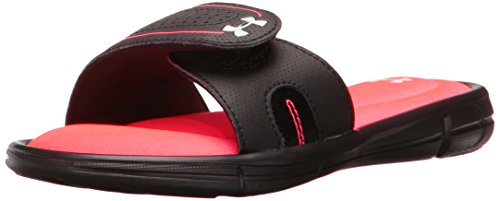 Under Armour Girls' Ignite VIII Slide Sandal, Black (064)/Sirens Coral, 1 ()