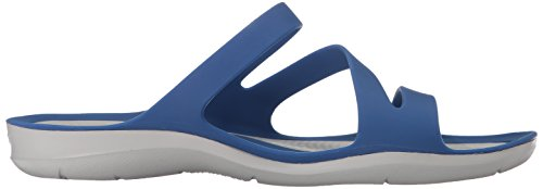 crocs Swiftwater Damen Sandalen blau - grau