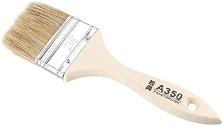 uxcell チップペイントブラシ 63.5mm合成剛毛壁処理用木製ハンドル付き