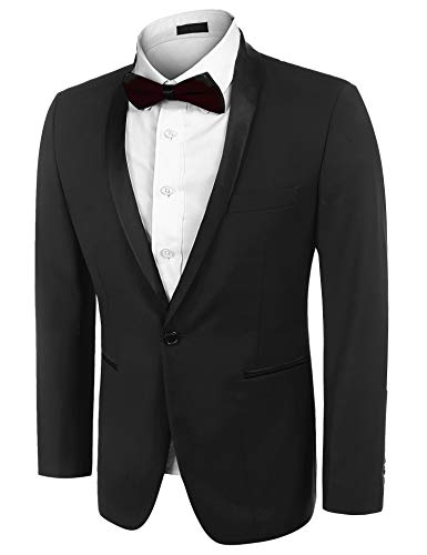 Charm Mens Casual One Button Fit Coat Jacket Printed Tops Suit Blazer Jacket for Weddings Party Dinner Prom Banquet