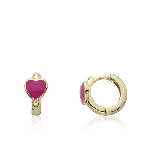 Little Miss Twin Stars 14k Gold-Plated Huggy Earring by Little Miss Twin Stars (Image #1)