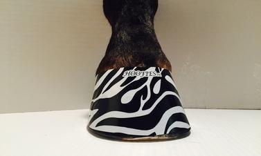 Hoofies Horse Hoof Stickers White Zebra by Hoofies