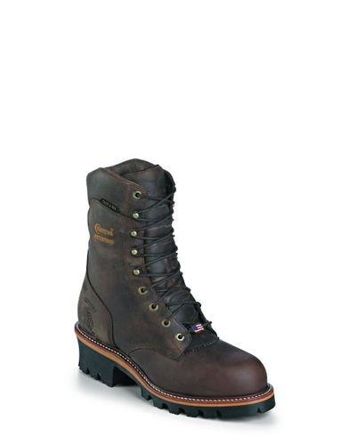 "Chippewa Men's 9"" Waterproof Insulated Steel-Toe EH Logger Boot,BayApache,11.5 E US"