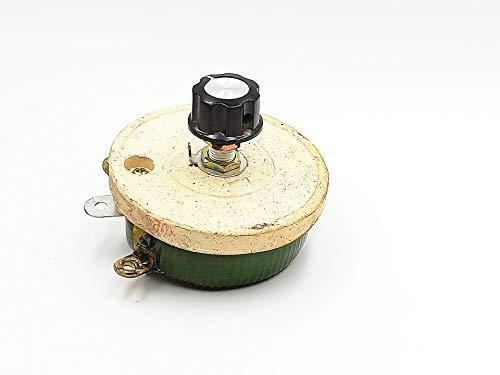 100W 100 Ohm Ceramic Disk Adjustable Resistor Rheostat knobA04 by BLS