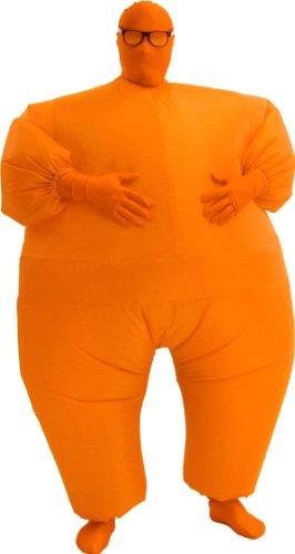 Agent May Costume (Chub Suit Adult Costume Orange - One Size)