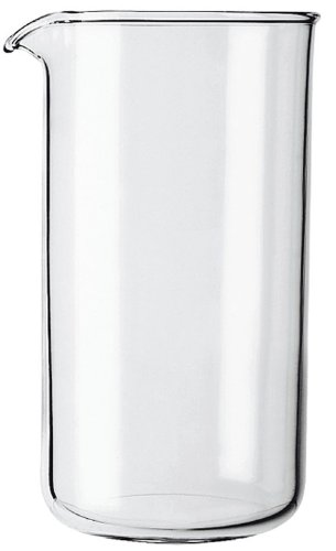 GROSCHE Replacement Universal Beaker for French Presses, 350 ml/11.8 fl. Oz, borosilicate, heat-resistant glass, for all makes of French presses Heat Resistant Glass Cup