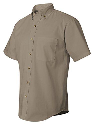 Featherlite Men's Short Sleeve Stain Resistent Twill Shirt, 2XL, Sandalwood/ Stone (Short Sleeve Twill Shirt)