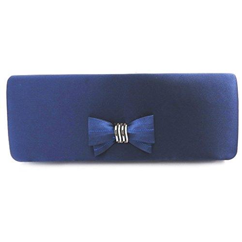 Azul oscuro ceremonia bolsa 'Madonna'.