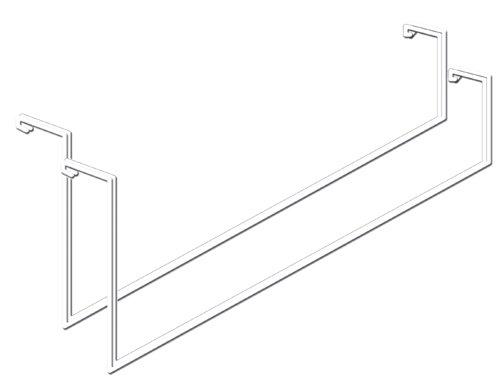 HyLoft 00419 Add On Storage Rack, Tool and Ladder Hangers, 2-Pack Knape & Vogt