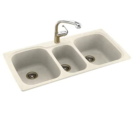 Night Sky 44 In L X 22 In H X 9 In H Swanstone Ks04422tb 012 Solid Surface 1 Hole Drop In Double Bowl Kitchen Sink Kitchen Sinks Tools Home Improvement