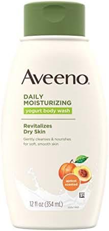 Aveeno Active Naturals Daily Moisturizing Body Yogurt Body Wash, Apricot and Honey, 12oz, 12 Fluid Ounce