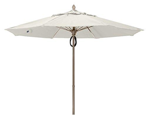 FiberBuilt Umbrellas 9MPPCB-8605 Market Umbrella, 9' Marine Grade Canopy, Natural White