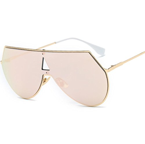 Soleil Lunettes Siamois UV YANJING Lunettes Soleil Lunettes de Film de Femmes de Métal Soleil Couleur Rose ZYXCC Mode Hommes OAO5qYwz