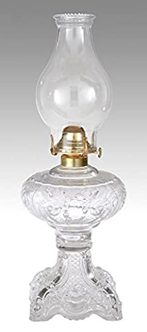 B&P Lamp Clear Princess Feather Oil Lamp