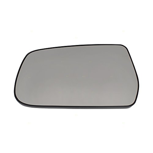 Drivers Side View Mirror Glass & Base Replacement for 10-17 Chevrolet Equinox GMC Terrain 22906957 ()