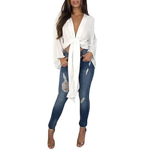 Shirt avec pour T Sweat Trydoit Capuche Manches Femmes Longues Blanc Shirt T cB0OpAwqFp