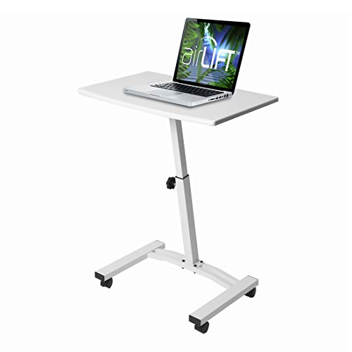 Seville Classics OFF65855 Mobile Laptop Computer Desk Cart Height-Adjustable from 20.5