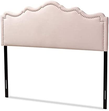 Baxton Studio Nadeen Contemporary Velvet Queen Headboard