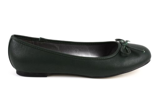tg104 Machado Andres Green Faux Leather ballerines q785Y