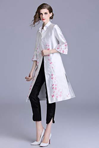 Gran Moda 2019 Chaqueta Tamaño Wtug® Abrigo Bordada 3 De Damas Retro Cheongsam Grueso A Chino Nuevo Cortavientos Estilo Invierno Mano fqwFWq8T
