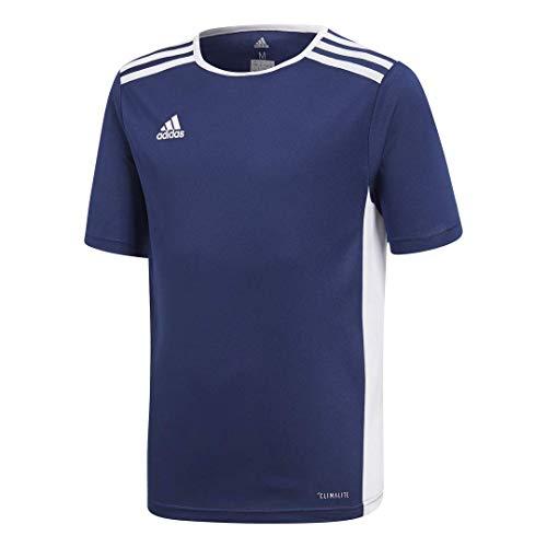 adidas Youth Entrada 18 Jersey, Dark Blue/White, X-Small