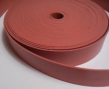 Solid Silicone Rubber Strip - .020'' thk x 3'' Wide x 12' Long