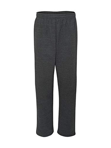 Blend Cotton Sweatpants (Gildan Men's Heavy Blend Open-Bottom Sweatpants, X-Large, Dark Heather)