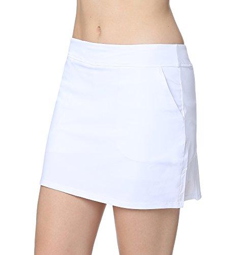 Junior Golf Shop (Cityoung Women's Golf Pleated Flat Skort With Pockets m,White)