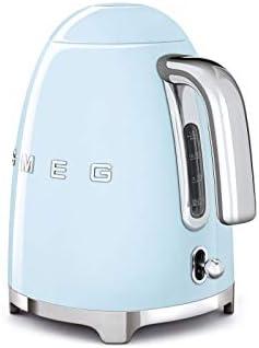 Smeg 50s Retro 4-Slot Toaster TSF03 Bundle with Smeg KLF03 Electric Kettle (Pastel Blue)