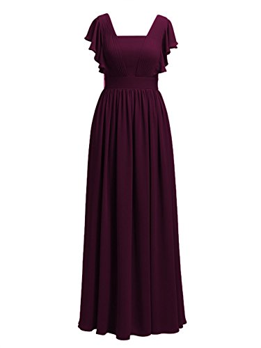 Cdress Mother Grape Gowns Bride Dresses Of Evening Long Formal Wedding Prom Chiffon The r7Fa5nw7q