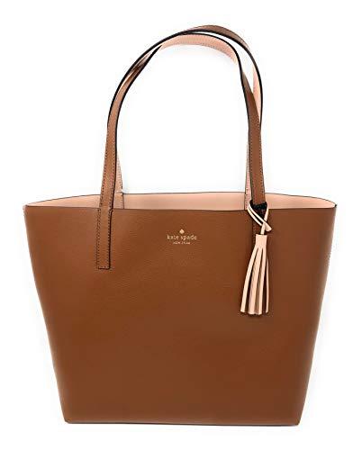Reversible Tote - Kate Spade Marina Lakeland Drive Reversible Leather Tote Bag in Brown/Warm Vellum