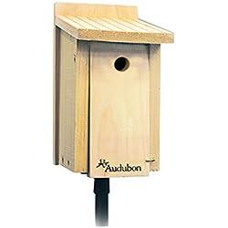 AUDUBON/WOODLINK Cedar Wood Wren/Chickadee House Tan 6.75X6.25X11 in