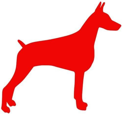 laptop dog pinscher Doberman Car Window Decal Personalized Vinyl Sticker