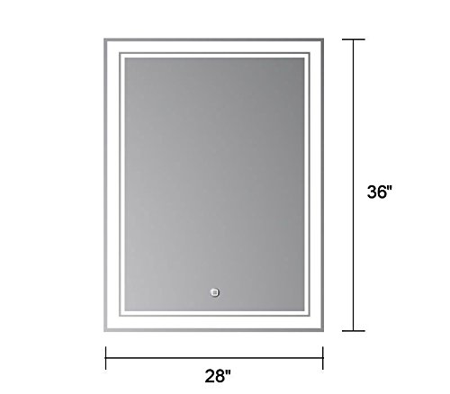Amazoncom 28 x 36 In Vertical LED Bathroom Silvered