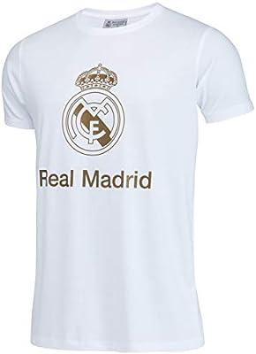 Real Madrid Camiseta de algodón Colección Oficial - Hombre - Talla S: Amazon.es: Deportes y aire libre