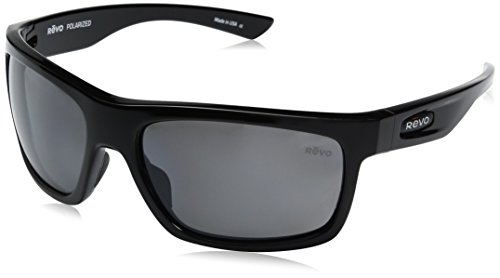 Revo Re 4056x Stern Wraparound Polarized Wrap Sunglasses, Black Graphite, 61 - Polarized Revo