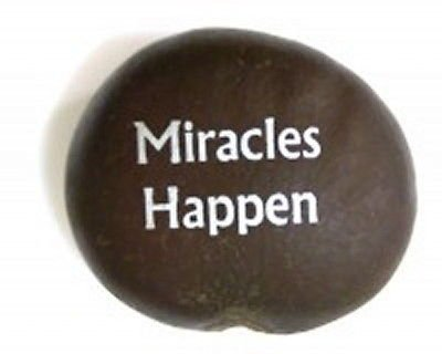 Miracles Happen Blessed Sea Beans Imprinted With Inspirational Quotes