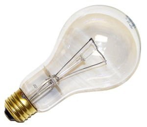 Incandescent Light Bulb Long Life A 21 Long Neck 150 Watt Clear