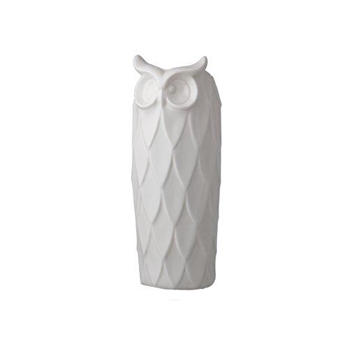 Prinz White Ceramic Large Owl Ceramic Vase