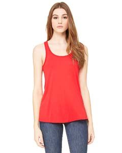 Bella + Canvas Womens 3.7 oz. Flowy Racerback Tank (B8800) -RED -M ()