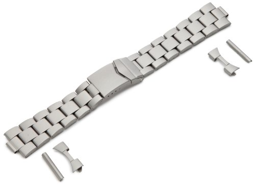 Hadley-Roma Men's MB5919RTIS&C 22 22-mm Titanium Finished Stainless Steel Watch Strap ()