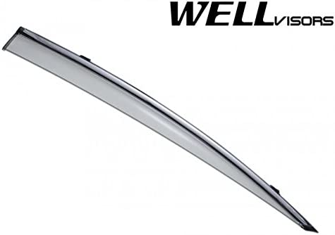 WellVisors Side Rain Guard Window Visors Deflectors With Chrome Trim For 09-14 Acura TL 4Dr Sedan 2009 2010 2011 2012 2013 2014 09 10 11 12 13 14