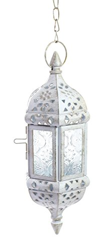 JustNile Rustic Metal Moroccan Hanging Tealight Candle Holde