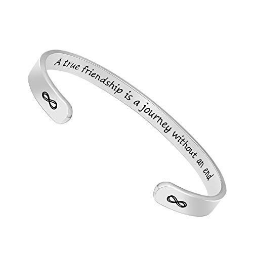 Inspirational Bracelets for Women Men Cuff Bangle Friendship Mantra Jewelry Come Gift Box